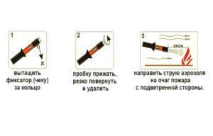 Как пользоваться огнетушителем «Стражник-3»