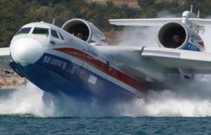 Особенности работы пожарного самолета Бе-200