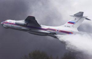 Что из себя представляет самолет для тушения пожаров Ил-76