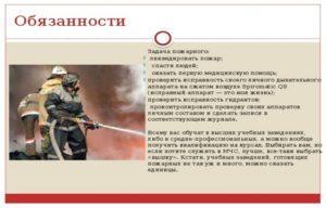 Должностная инструкция пожарного