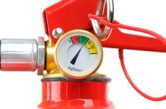 Какое рабочее давление углекислотного огнетушителя