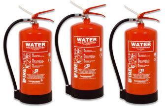 При каком классе пожара следует применять водный огнетушитель