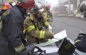 Разведка места пожара
