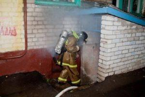 Тушение пожаров в подвалах