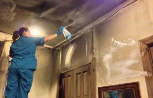 Способы избавления от копоти после пожара