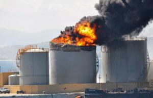 Тушение резервуаров с нефтепродуктами