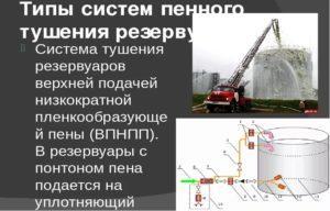 Как и происходит тушение резервуаров с нефтепродуктами