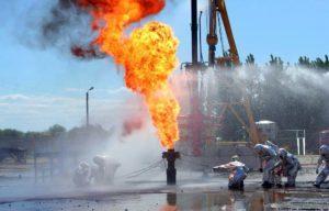 Тушение пожаров на объектах нефтехимии