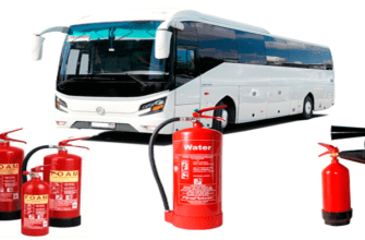 Сколько в автобусе должно быть огнетушителей
