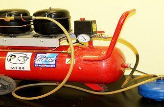 Как самому сделать компрессор из холодильника и огнетушителя