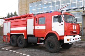 Объем пожарной машины