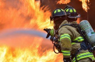 Как определить площадь тушения пожара