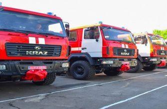 Технические характеристики пожарной машины КрАЗ