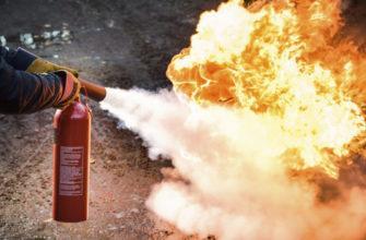 Какой принцип работы огнетушителя