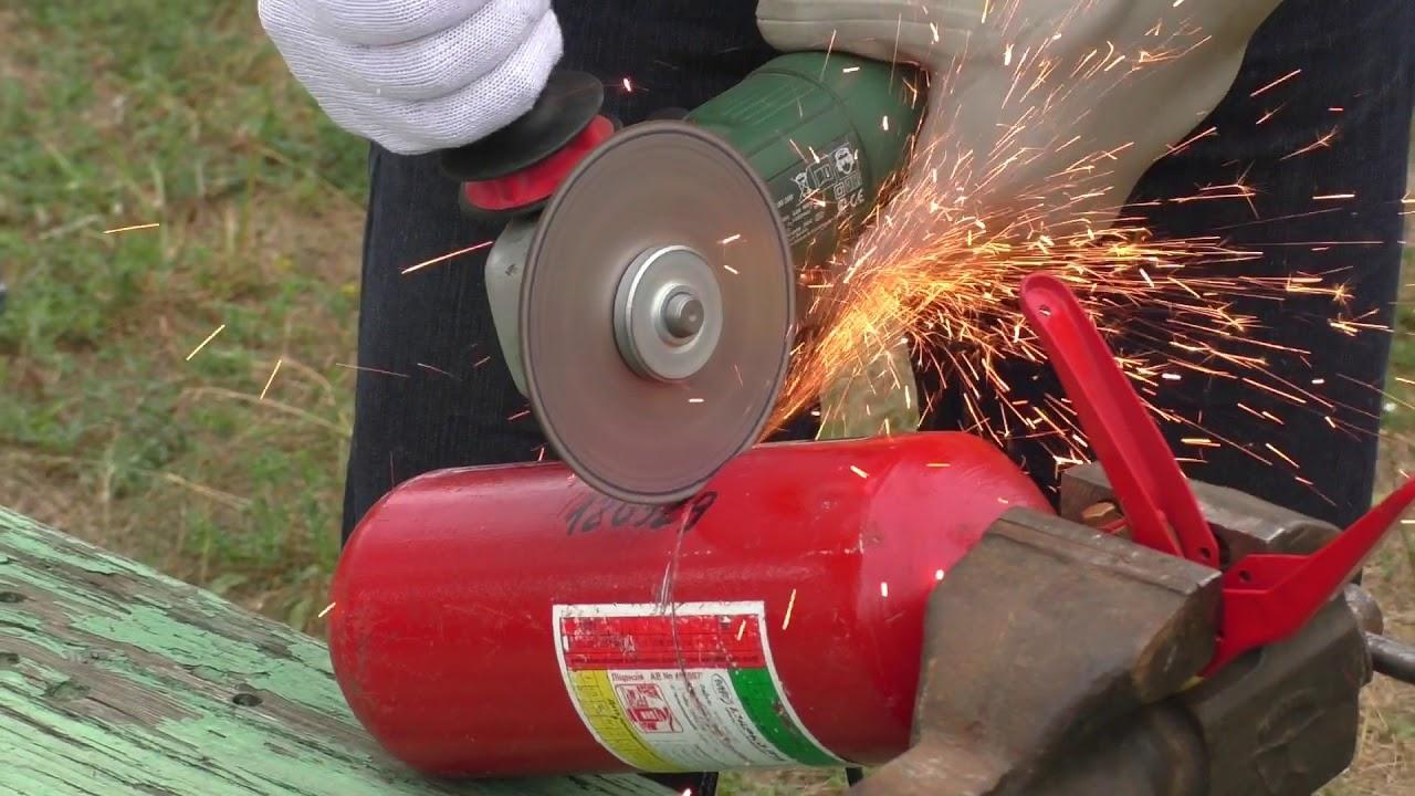 Как разобрать и утилизировать порошковый огнетушитель